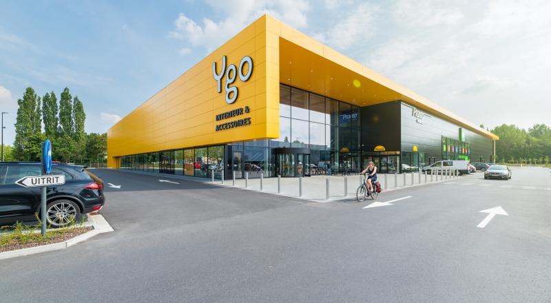 Nieuwbouw winkelsite YGO